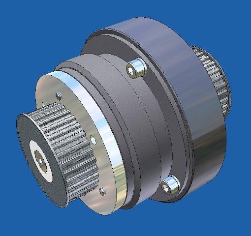 engineering van een applicatie op een elektromagnetische koppeling,  zodat deze geschikt wordt voor toepassing in een automatsche scheepsdeur.