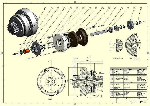 exploded views geven goed inzicht in de opbouw van een mechaniek