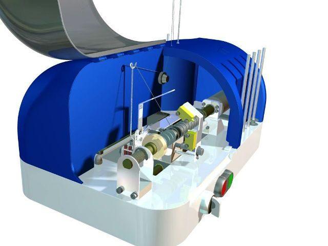 simulatie van alle werkende onderdelen, aandrijving, lineairgeleiding, actuators, en overige fijnmechanica