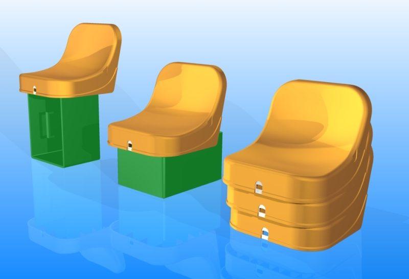 3D CAD modeling en verdere engineering van de kratstoel