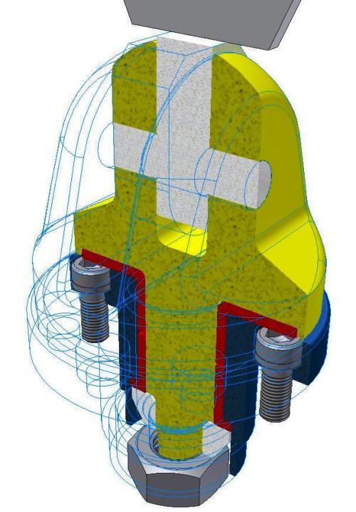 3D model assembly met de minimaal benodigde detail en parts  om een natuurgetrouwe sterkte en vervorminganalyse te kunnen doorvoeren