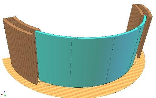 3D principe design van een total flush panoramic slidingdoor