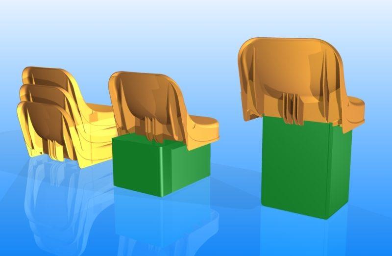 De 3D modellen van achterzijde gezien
