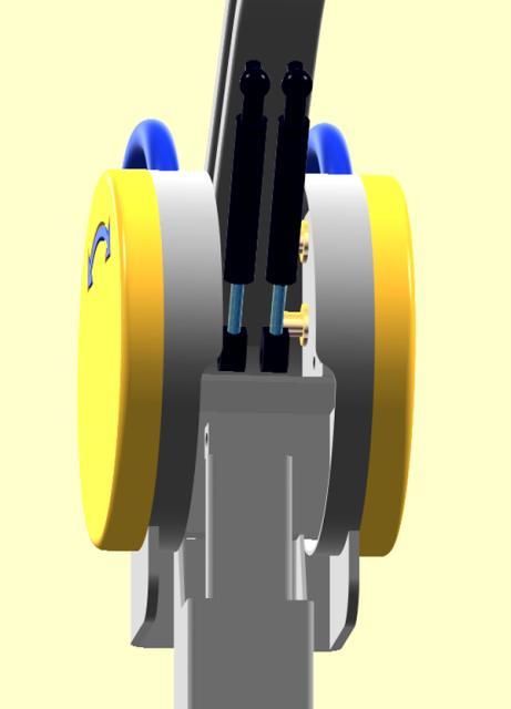 Detail 3D CAD ontwerp en beweging simulatie