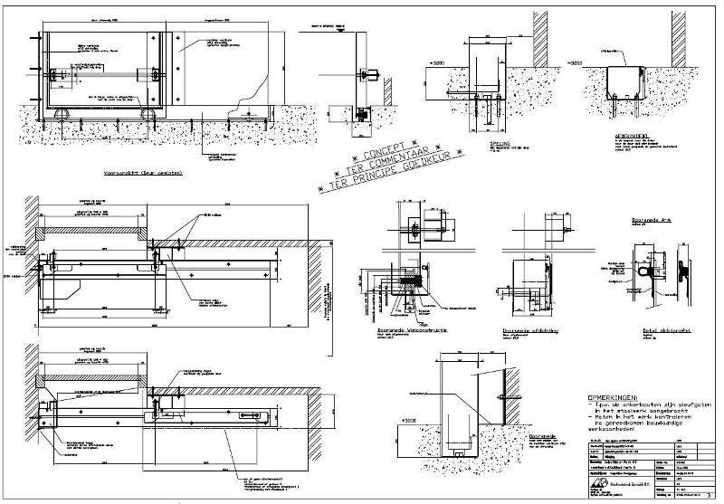 LARA Engineering B.V. heeft in 2002 alle productietekeningen en montagetekeningen vervaardigd
