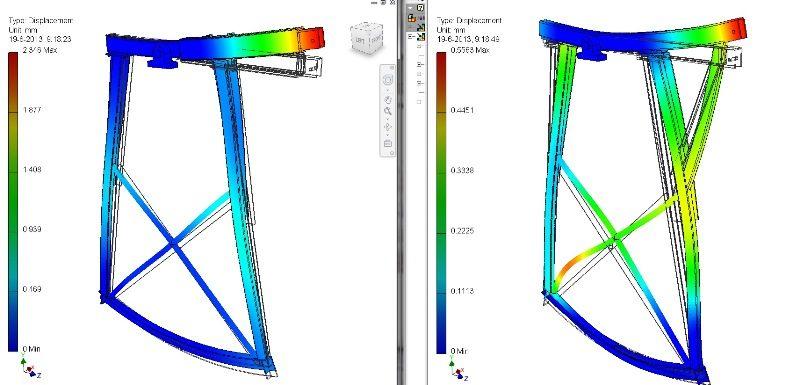 Met een FEM sterkteberekening ook wel finite analysis, brengt LARA Engineering BV  helder in beeld wat de situatie is van beide oplossingsmogelijkheden.