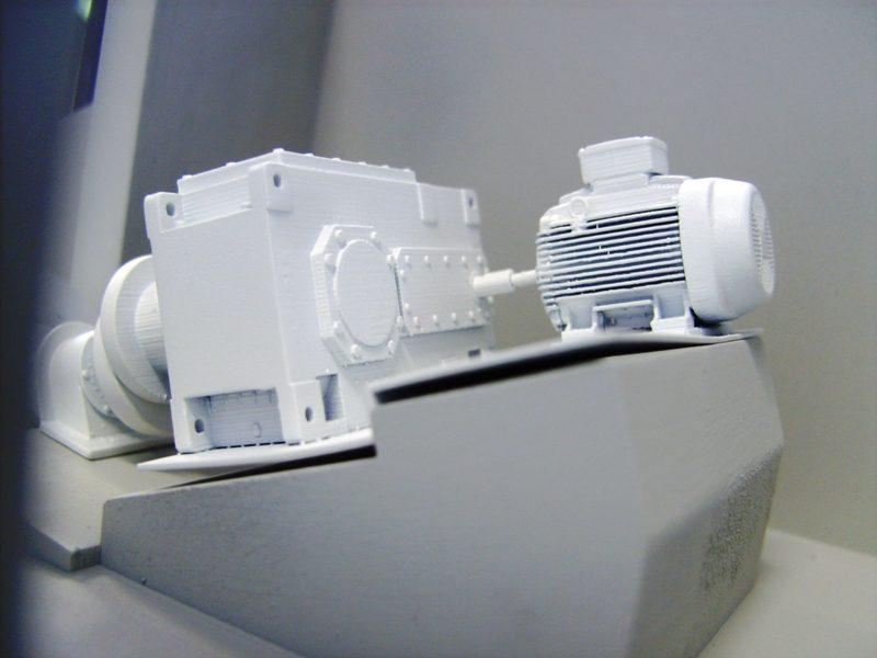 Te zien is hoe met stereolithografie de fijnste details uit het 3D CAD model zijn overgenomen