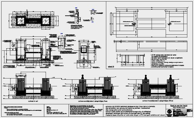 Tekenwerk met plaatuitslagen t.b.v. productie