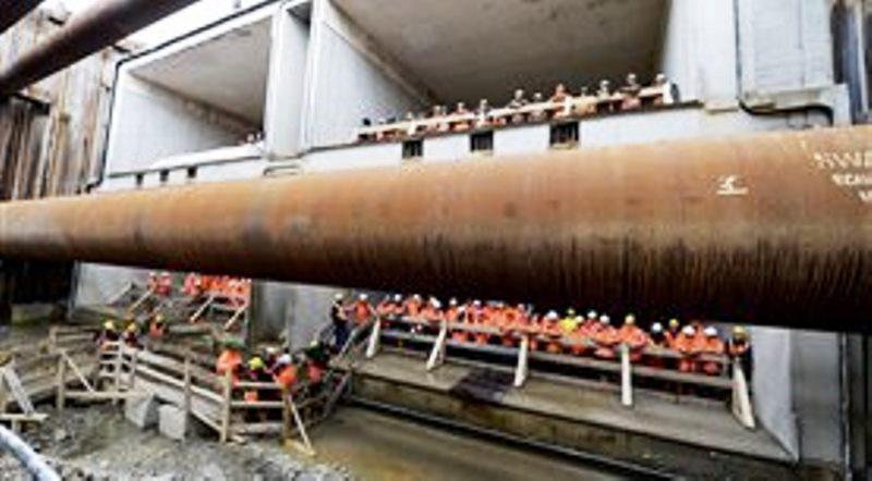 betonelementen van de tunnel